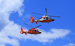 Dual Costies (GLC 392) Tags: city blue sky usa 6 heritage station festival clouds mi america cherry coast us paint michigan anniversary air united guard traverse helicopter angels memory states scheme pilot 2016 6506 6517 of mh65d