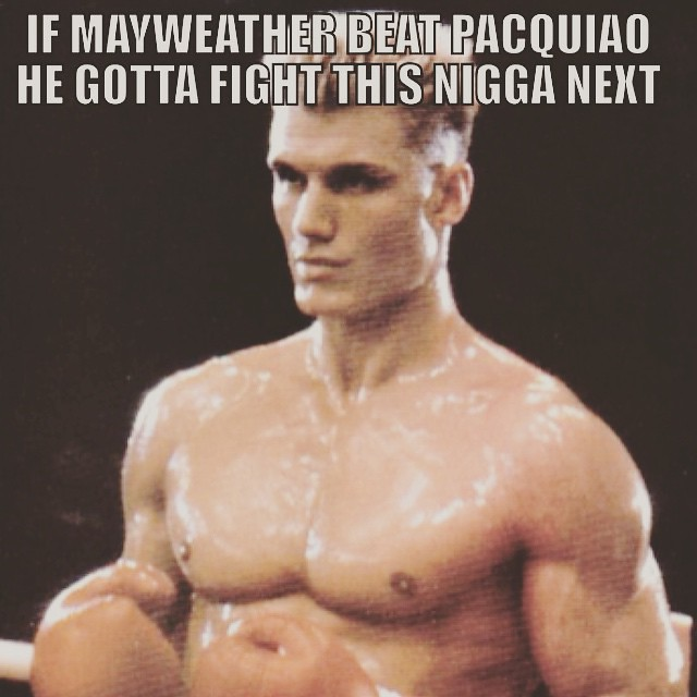 MAYWEATHER gone end up looking like Apollo Creed #MAYWEATHER #Pacquiao #MayPac #May2 #lasVegas #Rocky #Boxing