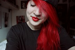 (biancamanson97) Tags: red me ink hair skin lips pale nostril septum inked