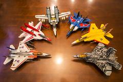 Leader / Masterpiece Jets (Zaakna) Tags: class strike leader yamato sunstorm masterpiece valkyrie jetfire starscream 148 thundercracker vf1s