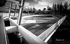 Lonely Park (axxonlive) Tags: park blackandwhite bw landscape triangle quiet view sony perspective sarawak lonely leading kuching nex5t