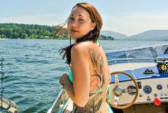 Day on Lake Sammamish (Robert Patten Photography) Tags: dog lake ski beach water ball boat dock wake play board jet kawasaki seadoo vdrive