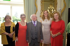 Nuala Nicholson (AHEAD), Mary Quirke (AHEAD),  President Michael D Higgins, Maria Whelan (Citi), Phil Haligan (AHEAD Board) (AHEADIreland) Tags: ahead wam