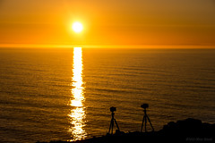 Photographic Romance (OR_U) Tags: ocean sunset red sea sky orange sun reflection clouds fun iceland silhouettes romance cameras refraction oru tripods lunaryuna mocking 2016
