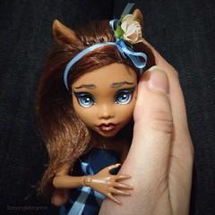 Soooo sweeet, yep?) (dancingmorgana) Tags: monster high wolf doll ooak custom repaint clawdeen monsterhigh