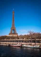 Eiffel Tower and the Seine River (josefrancisco.salgado) Tags: bridge paris france seine ro river puente nikon europa europe ledefrance eiffeltower eiffel toureiffel torreeiffel nikkor fr sena pontbirhakeim seineriver 2470mmf28g d810a