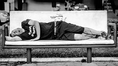 No Money, No Honey (Keith Mulcahy) Tags: sleeping man monochrome drunk bench outdoors asia cambodia riverside prudential foreigner nomoneynohoney