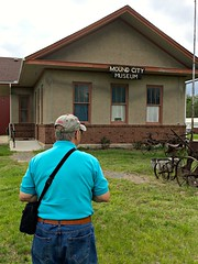 Ali visits Mound City Museum, Photo by Crudin (ali eminov) Tags: people architecture buildings ali machinery missouri museums implements farmmachinery moundcity moundcitymuseum