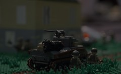 In the shadows ([C]oolcustomguy) Tags: house brick us arms lego farm nazi wwii german normandy troops sherman tanks brickarms brickcan