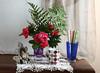 Nostalgia (leograttoni) Tags: flowers stilllife flores cup glass buenosaires interior crochet bodegón fen ramo taza vaso naturemorte laplata abanico vace naturalezamuerta florero retratoportrait