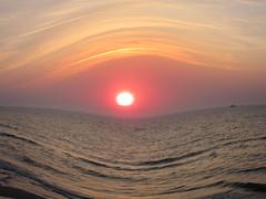 Fisheye on sun (navarrodave80) Tags: sunset sea seascape dave canon ship baltic fisheye ustka chmiel chmieldave