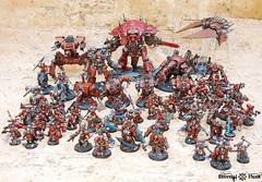 Khorne's Eternal Hunt 2016 (1) (KrautScientist) Tags: world army chaos space 40k knight marines xii renegade hunt legion eternal csm eaters khorne khornes