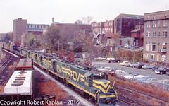 235, Willimantic, CT, 10-1984 (Rkap10) Tags: railroad other connecticut places albums centralvermont railroadslidescans