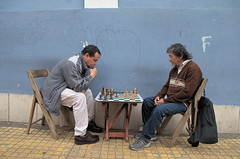 Playing Chess (funkallen) Tags: street people playing men chess asuncion ajedrez