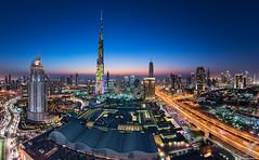 Downtown Dubai (DanielKHC) Tags: digital nikon dubai cityscape fisheye khalifa burj blending d810