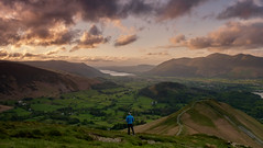 Cat Bells looking over Basenthwaite - Lake District (mat0tam20) Tags: camping sunset sky lake sunrise landscapes spring fuji district tent hike cumbria 16mm xt1