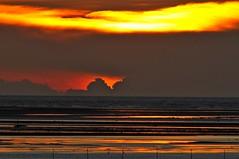 Sunset glow (mattlaiphotos) Tags: light sunset seascape beach clouds scenery pattern glow dusk nightfall wetland