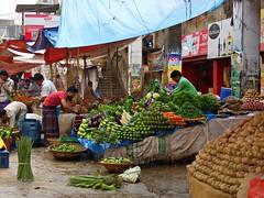 Vegetable Stall, Town Hall Bazar (karlahovde) Tags: street travel food green fruit shopping market scene fresh bangladesh bazar
