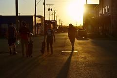West Bottoms (Gracie Long) Tags: city sunset shadow sun streets shadows skateboarding kansascity missouri longboard skateboard kcmo westbottoms longboarding