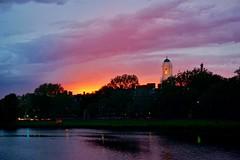 Sunset over the Charles ((Jessica)) Tags: cambridge sunset sky weather boston clouds massachusetts harvard charlesriver newengland pw weeksfootbridge