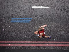 The Need for Speed (Feldore) Tags: above street england london english lines race frozen view pov marathon running olympus aerial racing runner mchugh birdseye em1 1240mm feldore