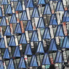 Oxford Street Blues (No Great Hurry) Tags: amateur photographer art britain squared cube image photographic views urban square archistract pattern exposure flickr patterns architecture london ramilliesstreet reflections constructuralart robinmauricebarr robinbarr streetlamp streetlight blue light sunny lookup building 70300 cmwdblue londonarchitecture londonbuildings londonstructures nogreathurry