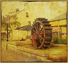Waterwheel (boeckli) Tags: waterwheel windsor australia newsouthwales old wood wooden textures texturen outdoor history holz hlzern photoborder texture