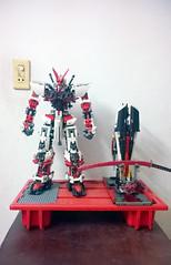 LEGO Astray Gundam [ Red Frame ] MBF/P02 (demon14082001) Tags: astray gundam mobile suit red frame lego mpfp02 seed mbfp02 perfect grade robot mecha destiny toy nn trng
