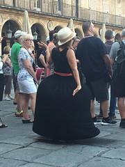 Air up skirt Salamanca (touring_fishman) Tags: salamanca spain september 2016 plazamayor black skirt