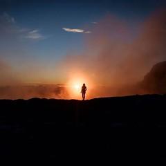 Walking in the sunset .... (Shot by Fabio) (Deneb56) Tags: elena fabio sunset tramonto camminareneltramonto camminandoneltramonto silouette figura backlight controluce paesaggio landscape