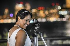 City Lights and a Smile (Narratography by APJ) Tags: apj narratography nj jerseycity portrait beautiful skyline bokeh night smile