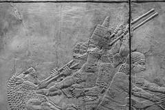 Lion Hunt (cybertect) Tags: assyrian bloomsbury britishmuseum canonfd85mmf12l london londonwc1 sonya7 wc1 blackwhite blackandwhite monochrome relief