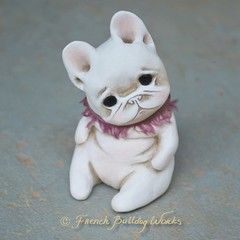 Yuutsu (French Bulldog Works) Tags: bouledogue puppy tiny little cute sad ooak bully sculpture art custom pet dog lovepet frenchbulldogworks frenchbulldog frenchie