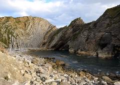 Stair Hole (mme1998) Tags: lulworth cove coast sea ocean jurassiccoast lulworthcove dorset south england southcoast nikon d3300 dslr shore shoreline landscape seascape rockys beach uk aonb stairhole