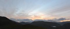 Monar Forest Sunset (R_W_M) Tags: stitch panorama hugin scotland highlands sunset sky mountains munros summer evening camping walking adventure nikond3100