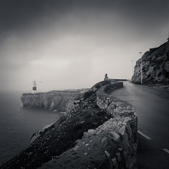 After Rain (sebistaen) Tags: flickr sebistaen ligthhouse black white sea gibraltar sébastienlemercier sebistaennet