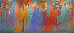 """""""Les mille et une nuits"""" de Vittorio Zecchin (musée d'Orsay, Paris) (dalbera) Tags: dalbera paris france muséedorsay styleliberty libertystyle artnouveau vittoriozecchin arttate"""