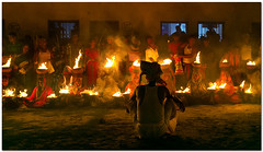 nero watching (Soumya Bandyopadhyay) Tags: rural fire village wide perspective ritual bengal westbengal gajon firepots charak canon1635mmf28lii canoneos5dmk3
