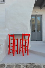 Waiting for you to come !!!! (spiros_legenda) Tags: summer white club island amazing view chairs greece paros naoussa