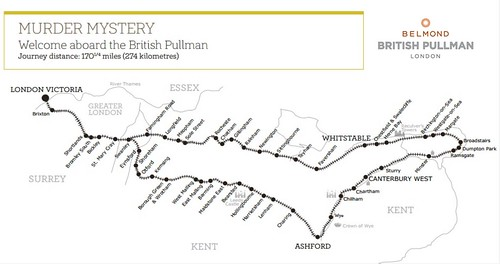 British Pullman - Murder Mystery map subject to change
