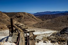 Turn left at the edge (joeqc) Tags: old trestle mountains abandoned car canon death mine track neglected ruin forgotten valley ore collapsed t3i efs1855 panamint dvnp