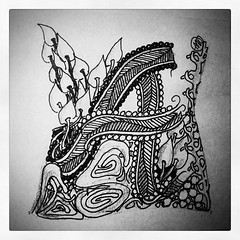 (aaspforswestin) Tags: ink pattern drawing letter zentangles