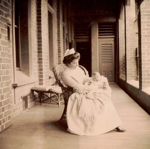 Kodak album - Nurse and baby