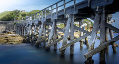 A bridge to somewhere (Martin Snicer Photography) Tags: ocean longexposure bridge water landscape 50mm fort sydney australia 6d laperouse ndfilter
