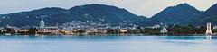 Panoramica Como (Marco Candellone) Tags: italy lake como lago italia pano panoramica di comolake lagodicomo villaolmo duomocomo
