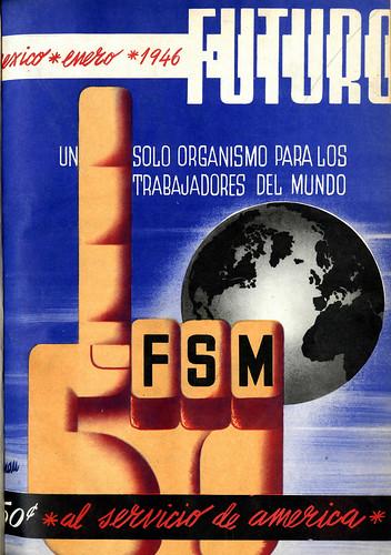 Portada de Josep Renau Berenguer para la Revista Futuro (enero de 1946)