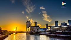Sun Set! Media city , Manchester UK ! (Imtiaz akbar) Tags: city sunset manchester nikon media d810