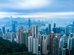 Hong Kong (Evgeny Ermakov) Tags: china above city travel blue sea vacation sky urban hk cloud seascape building tower tourism water beautiful beauty skyline architecture modern clouds skyscraper buildings observation landscape asian hongkong evening bay harbor scenery asia southeastasia downtown cityscape view skyscrapers cloudy outdoor horizon towers chinese scenic landmark scene victoria tourist hong kong destination southeast typical kowloon viewpoint hongkongisland victoriapeak touristic victoriaharbor kowloonbay