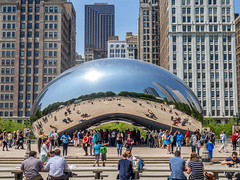 """The Bean"" (Anthony's Olympus Adventures) Tags: chicago illinois millenniumpark thebean il cloudgate unitedstatesofamerica usa bean sculture sculpture icon urban"