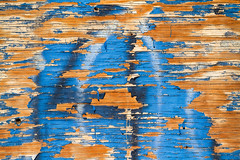 Olde Paint (SammCox) Tags: wood blue abstract paint decay